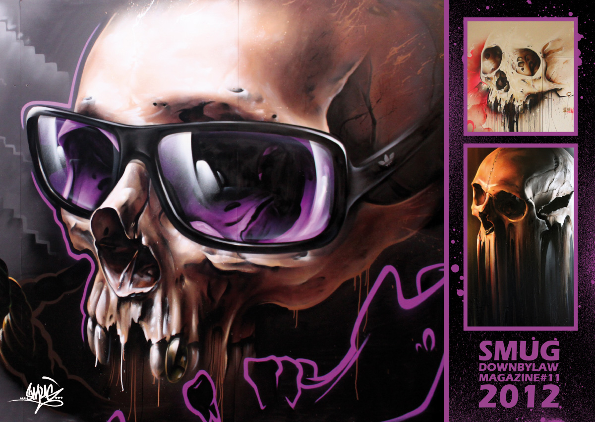 downbylaw_magazine_11_smug_poster_skull_graffiti