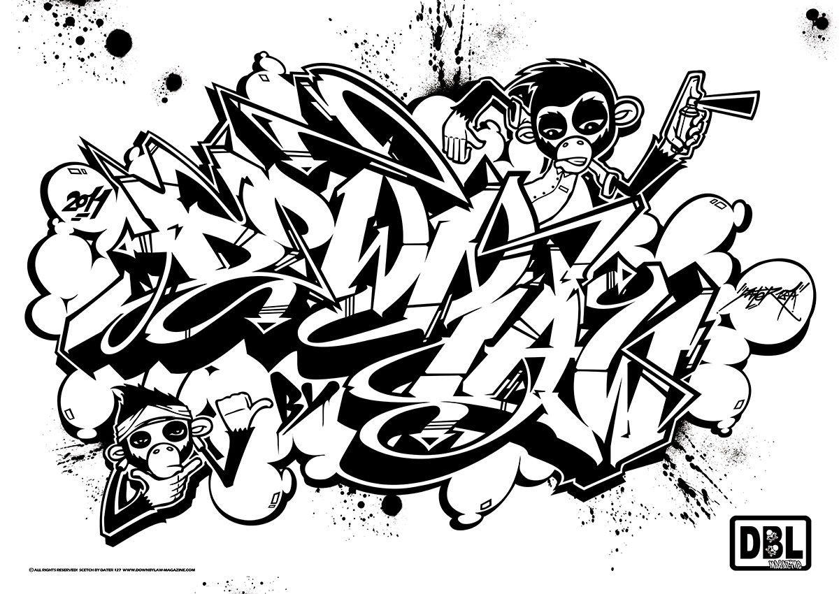 downbylaw_magazine_9_poster_graffiti