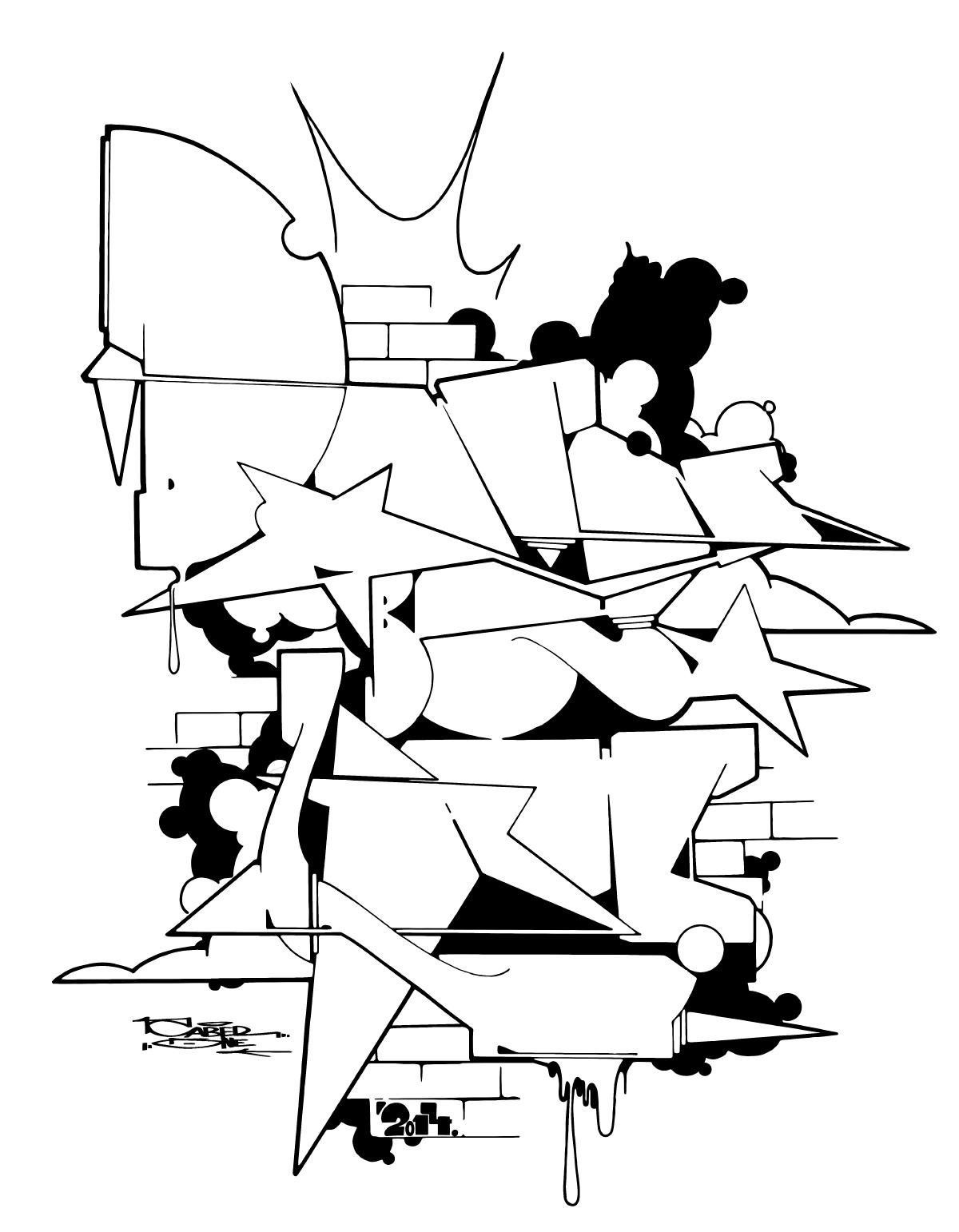 downbylaw_graffiti_caber_tshirt_blackbook2